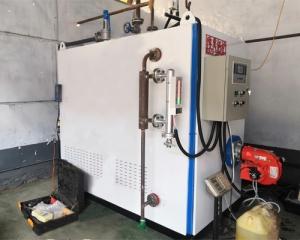 焦作市康潔洗衣廠1噸燃氣蒸汽發生器